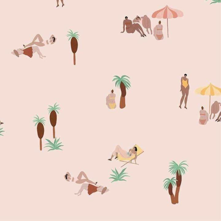 Isabelle Feliu - One day at the Beach Pink Sand Behang Coordonne Selected wallpapers by OOSTENDORP