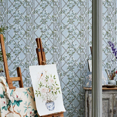 Jasmine Lattice behang Zoffany Selected wallpapers by OOSTENDORP