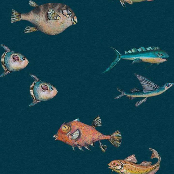 Joana Santamans - Peces Santamans Marina Behang Coordonne Selected wallpapers by OOSTENDORP