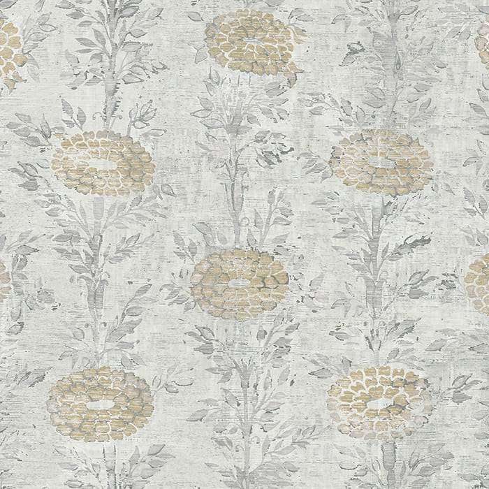Kanzashi Silver behang Coordonne Selected wallpapers by OOSTENDORP