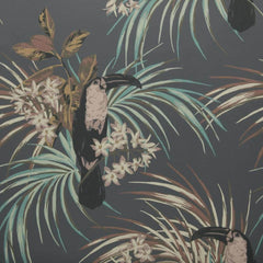 Le Toucan Charcoal Behang 1838 wallcoverings Selected wallpapers by OOSTENDORP