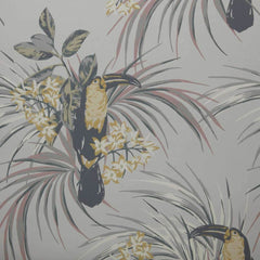 Le Toucan Soft Grey Behang 1838 wallcoverings Selected wallpapers by OOSTENDORP