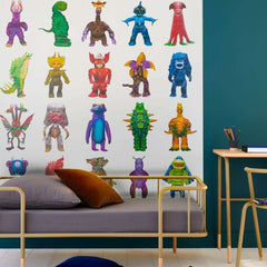 Monster Family Blanc behang Pierre Frey Selected wallpapers by OOSTENDORP