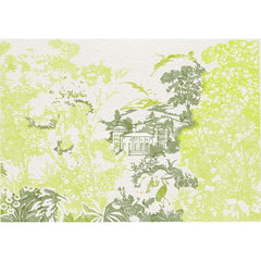 Neo-Tapestry Lime behang Coordonne Selected wallpapers by OOSTENDORP