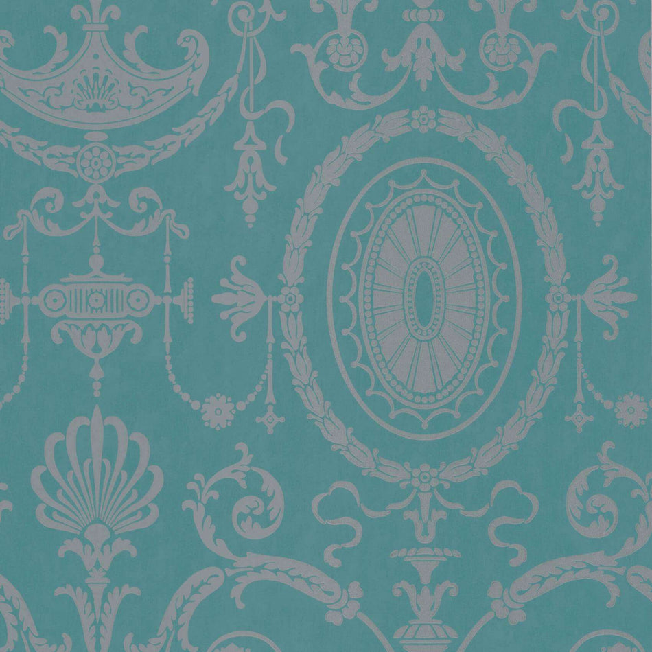 Pall Mall Canton Gold behang Little Greene Selected wallpapers by OOSTENDORP