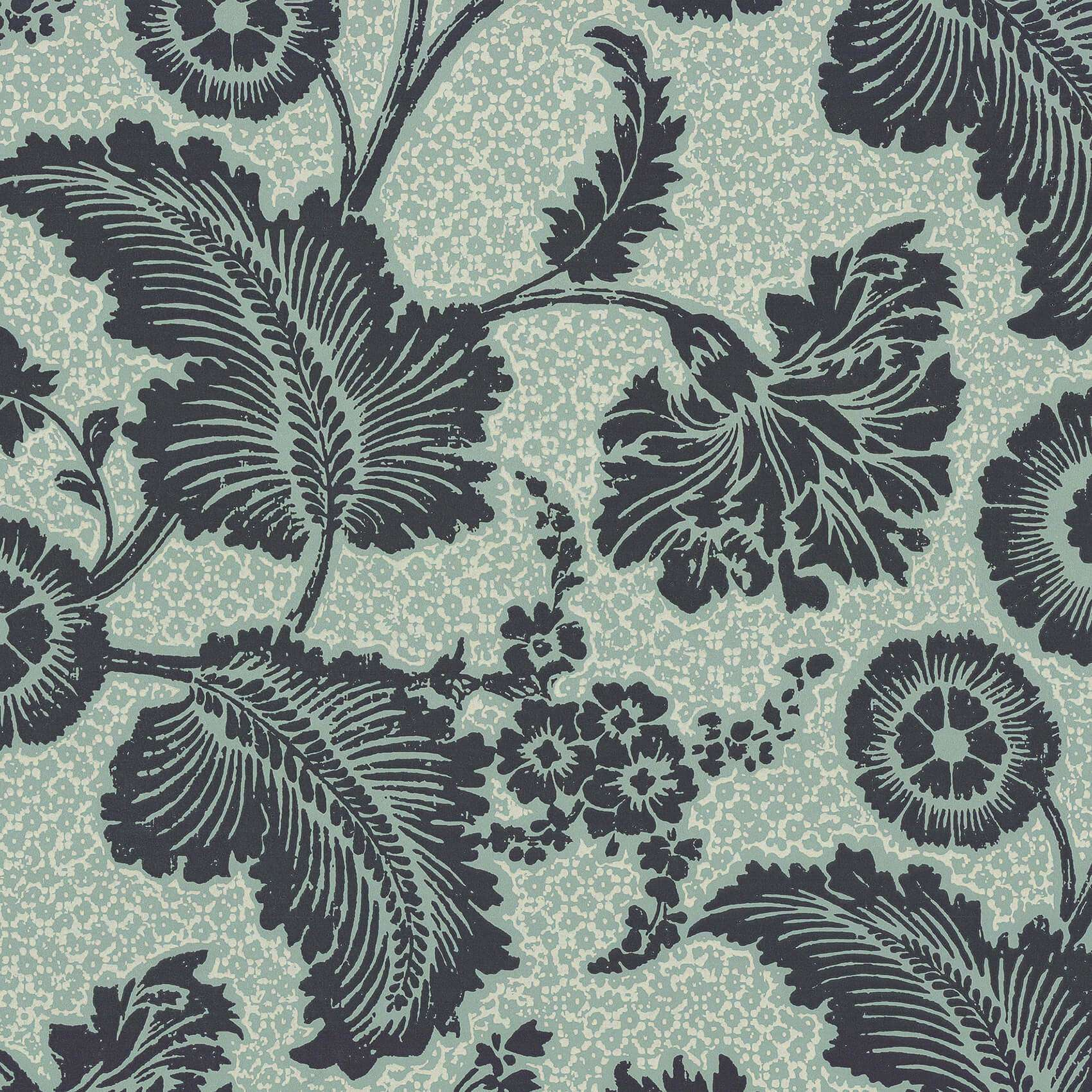 Piccadilly Mock Green behang Little Greene Selected wallpapers by OOSTENDORP