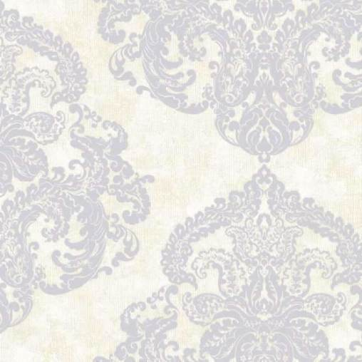 Silky Damask VANILLA CUSTARD Behang Texam Selected wallpapers by OOSTENDORP