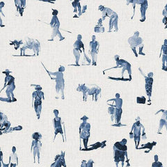 Sineu Indigo Behang Coordonne Selected wallpapers by OOSTENDORP