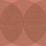 Sound Wave RED BINDI Behang Texam Selected wallpapers by OOSTENDORP
