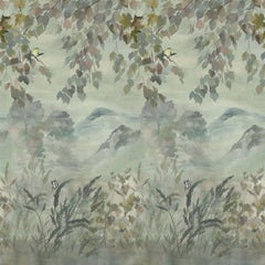 Special Miyako Scene 1 Dove behang Designers Guild Selected wallpapers by OOSTENDORP