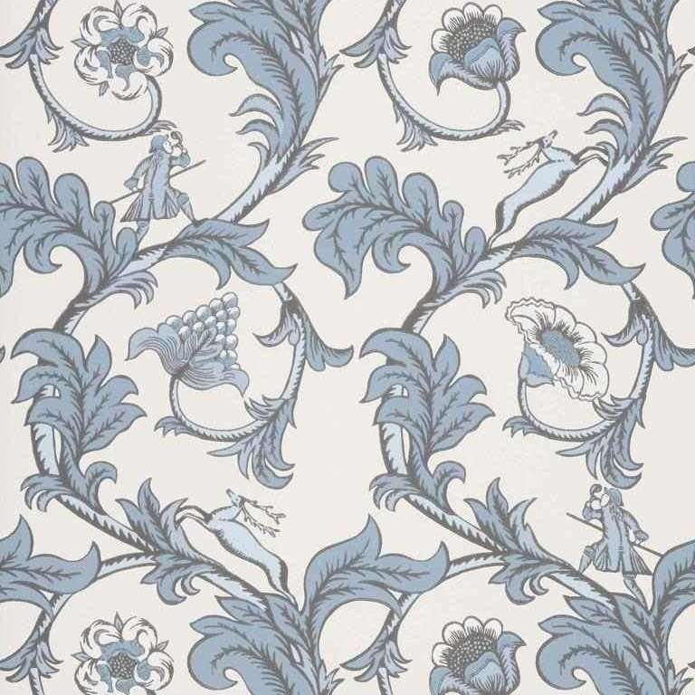 Stag Trail Sky behang Little Greene Selected wallpapers by OOSTENDORP