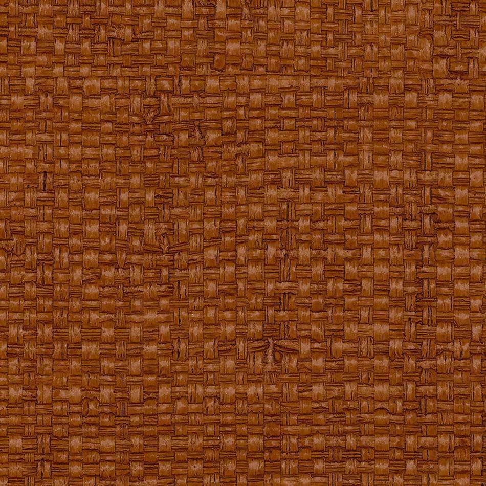 Vinyl Madagascar Raffia Turks & Caicos Orange behang Phillip Jeffries Selected wallpapers by OOSTENDORP