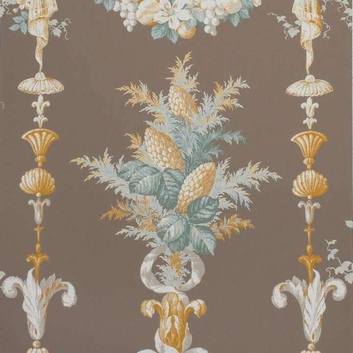 Chateaubriand Aqua Taupe behang Boussac Selected wallpapers by OOSTENDORP