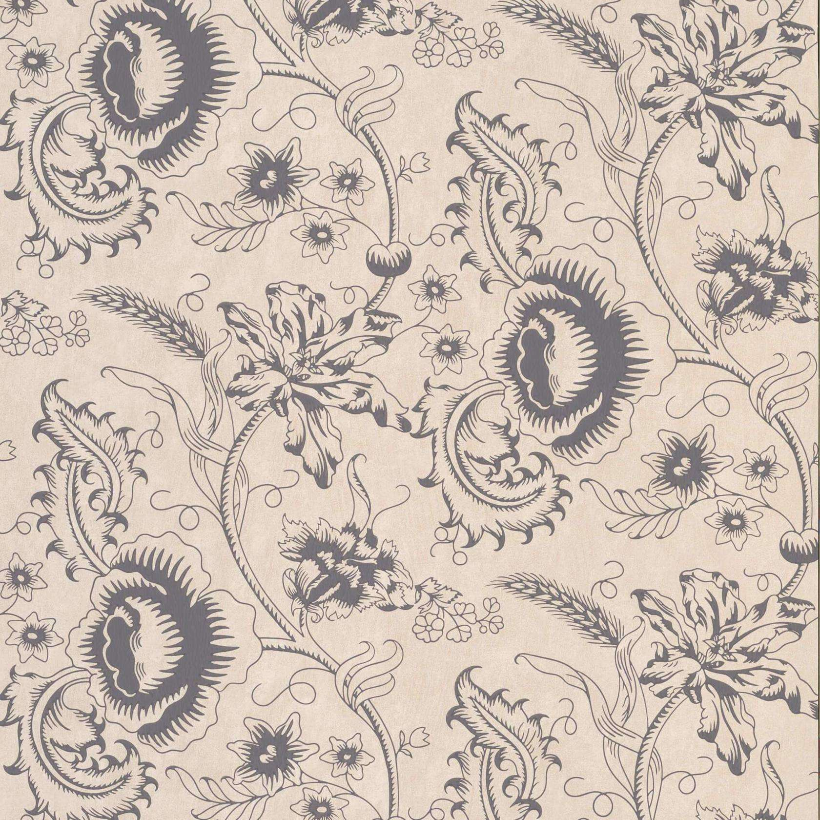 Woodblock Mono Knightsbridge behang Little Greene Selected wallpapers by OOSTENDORP