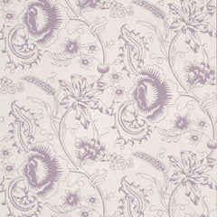 Woodblock Mono Plum behang Little Greene Selected wallpapers by OOSTENDORP