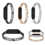 Replacement Stainless Steel Watch Band Strap For Xiaomi 4 Bracelet / Xiaomi 3 Bracelet Watchband High Quality Rhinestone Belt