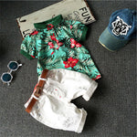 Children Clothing Sets Baby Boys Girls T Shirts+Shorts Pants Sports Suit Kids Clothes