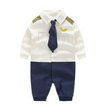 Newborn Baby Boy Rompers 100% Cotton Tie Gentleman Suit Bow Leisure Body Suit Clothing Infant Jumpsuit Toddler Boys Clothes