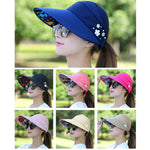 Women's Summer Casual All-match Going Out Ultraviolet-proof Korean Style Folded Sun Block Hat Breathable And Light