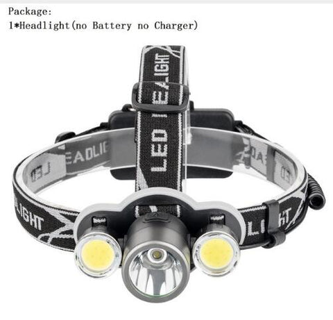 6000 Lumen Headlamp XML T6+2COB LED Powerful Led Torch 18650 Rechargeable Lantern