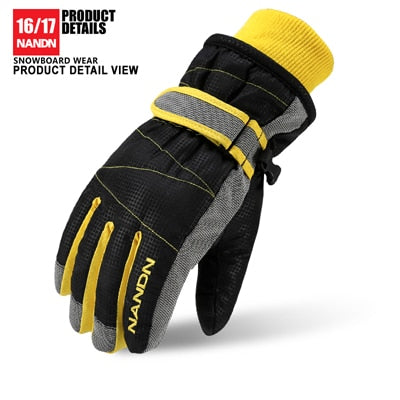 NANDN Ski Gloves Snowboard Gloves Snowmobile Motorcycle Riding Winter Gloves Windproof Waterproof Unisex Snow Gloves