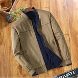 Double-sided Middle-aged Men's Jacket Thin Jacket Dad's Collar