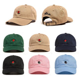 The Hundreds Rose Embroidered Hat Baseball Cap Unique Adjustable Embroidered Rose Casual Hats