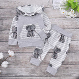 unicorn modis clothing boy Newborn Baby Girls Boy Hooded Tops Pants Autumn Clothes Outfits Sets Tracksuit baby boy clothes