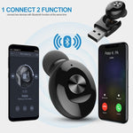 XG12  Mini Bluetooth Wireless Earphone Cordless Headphone USB Magnetic Charging Bluetooth Headset with Mic for iPhone Samsung