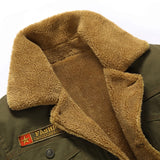 Winter Bomber Jacket Men Air Force Pilot MA1 Jacket Warm Male fur collar Mens Army Tactical Fleece Jackets
