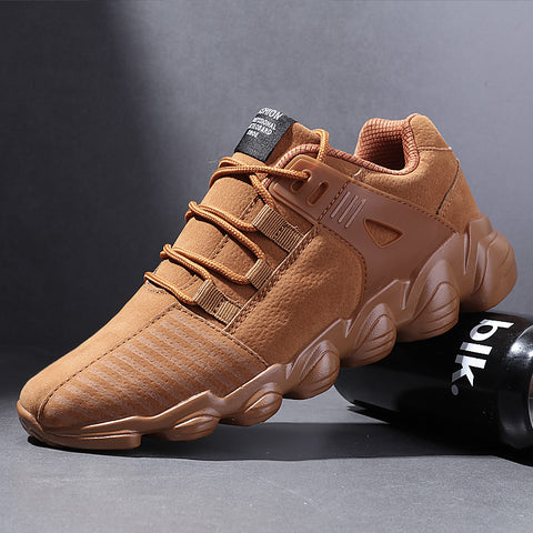Popular Male Casual Shoes for Men Adults Comfortable Senior Suede Black Male Sneakers