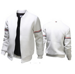 Men Solid Color Jacket Long Sleeve Slim Fit Sport Outdoor Tops Coat