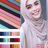 Fashion Islamic Hijabs Turban Muslim Islam Women Turkey Multi Colors Shawl Scarves Arabian Dubai Hoofddoek Tulband Headscarf