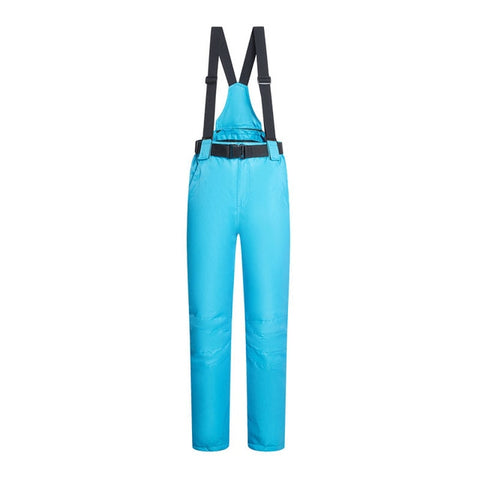 Women Men Ski Pants Brands Outdoor Sports Suspenders Windproof Waterproof Trousers