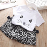 Humor Bear Girls Clothing Set Pearl Girls Clothes Set Lovely Long Eyelashes Toddler Girl tops + Pants Girls Suit Kids Clothes