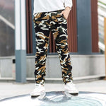DIIMUU 8-15Y Kids Child Casual Camouflage Trousers Long Pants Clothes Young Children Boys Fashion Military Denim Pants