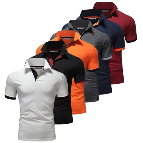 YEMEKE Brand Clothing Men Polo Shirt Men Business Casual Solid Male Polo Shirt Short Sleeve High Quality Pure Cotton