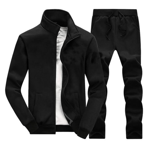 Casual Men Sets Solid Tracksuit, Male Zipper Jackets+Sweatpants... 2PC Sets Autum/Winter/Spring.... New Brand Men's Sportswear... Suit Customized Design