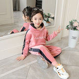 Autumn /Winter Spring Girls and Boys Clothes 2 Pieces Casual Sets Gold Velvet Tracksuit for Girls Sport Suits Kids Clothes Children Set