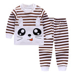Unisex 6M-4T kids Girl Children's Sets pajamas underwear suits cotton Fall Kids long sleeve shoulder buckle Baby Boys clothes