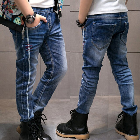 IENENS Kids Boys Skinny Jeans Denim Trousers 5-13 Years Young Boy Slim Cowboy Trousers Spring Autumn Children Casual Pants