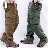 Men's Cargo Pants Mens Casual Multi Pockets Military Tactical Pants Men Outwear Straight slacks Long Trousers Large size 42 44