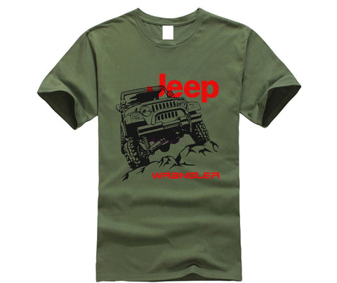 2019 Summer brand clothing Jeep T-Shirt Car Logo Men's New