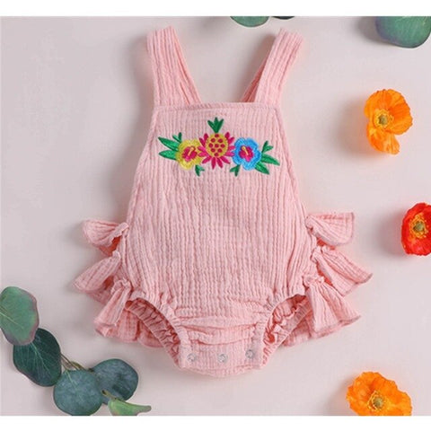 US STOCK Newborn Baby Girl Boy Summer Ruffle Cotton Rompers Hot play Party Gift Kids Jumpsuit Outfits Cute Baby Clothes