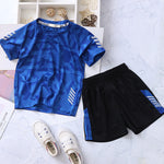 children summer clothes set quick-dry kids camouflage t shirts and beach shorts 2 piece suit for teen boys 90-160cm dwq667