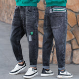 Hot Quality Big Boy Jeans Casual Spring Autumn Jeans for Boys Child Fashion Teen Jeans Age 4 5 6 7 8 9 10 11 12 13 14 16 Years
