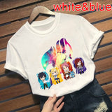 Fairy Tail Anime Tshirt Short Sleeve Casual Printing Shirt Japanese Anime Friends Tops