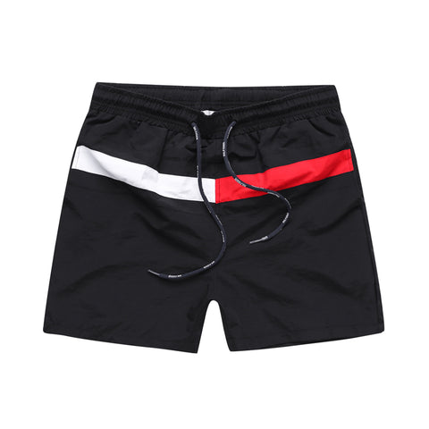 Summer tommi splice letter Casual cool Shorts Gyms Fitness sportswear Bottoms Male Running training Quick dry Beach Short Pants