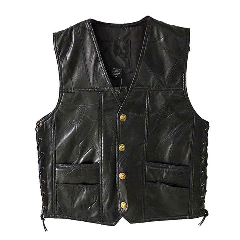 Leather Jacket Hot Sale Vest Mens Sleeveless Punk Pocket Loose Fit Black Brand Motorcycle Waistcoat Coats PU Male Streetwear