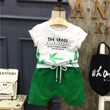 Summer Children Boys Girls Clothing Sets Kids Leaf T-Shirt Shorts 2Pcs/Sets Toddler Leisure Sport Suits Baby Cotton Tracksuits